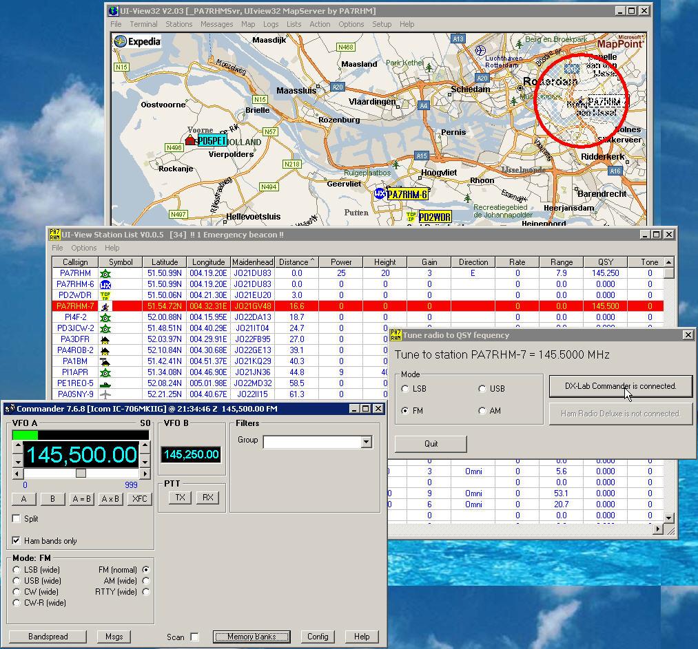 Screenshots of software by Chris van Gorp